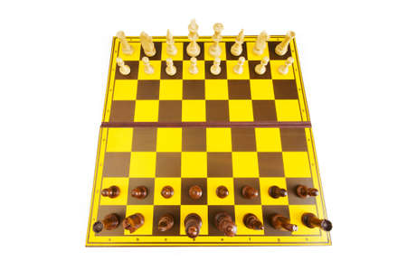 Chess figures isolated on the white background photo