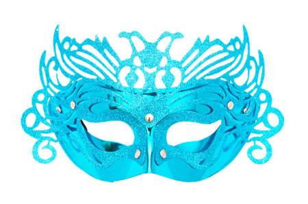 Ornate masks isolated on the white background photo
