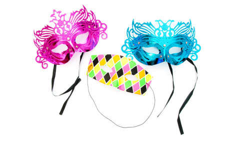 Ornate masks isolated on the white background Stock Photo - 8615033