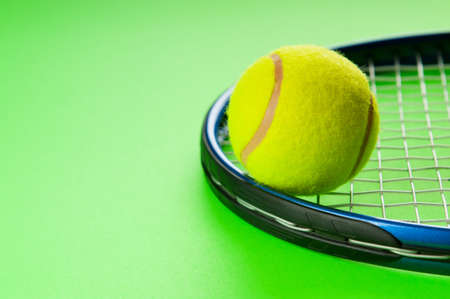 Tennis concept with balls and racket Stock Photo - 8616539