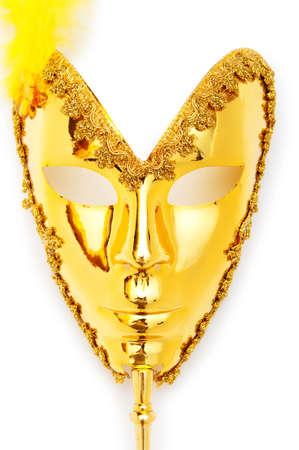 Ornate masks isolated on the white background Stock Photo - 8615343