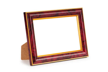Picture frame isolated on the white background photo