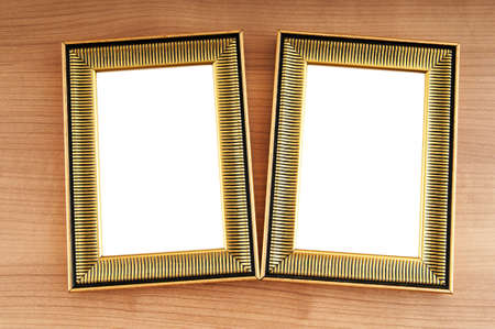 Picture frames on the polished wooden background Stock Photo - 8657021
