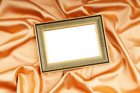 Picture frames on the color satin background Stock Photo - 8656957