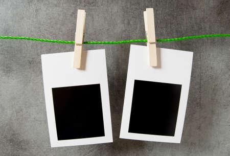 Designer concept - blank photo frames for your photos Stock Photo - 8657277
