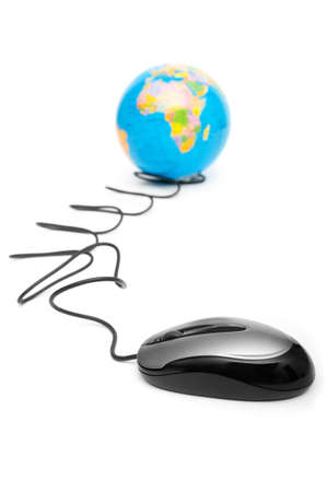 scrollwheel: Computer mouse and globe - ruling the world Stock Photo