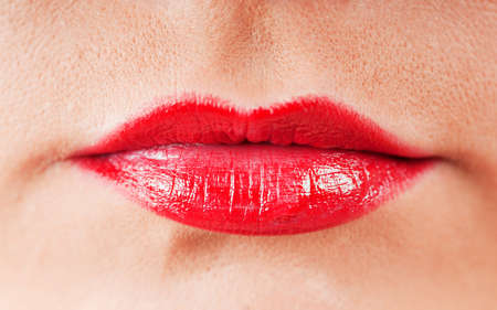 Close up of red lips Stock Photo - 8740596