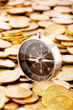 Financial concept - navigating in difficult times for markets photo