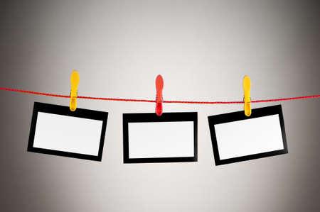 Designer concept - blank photo frames for your photos Stock Photo - 8745587