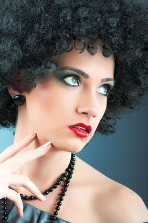 Young attractive girl with afro curly haircut Stock Photo - 8752404