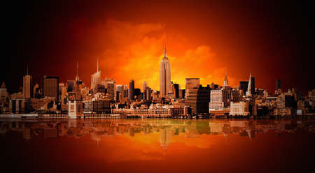 ニューヨーク市のパノラマ 写真素材 - 8745593