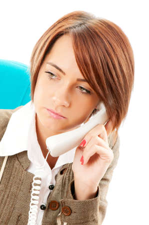 Young businesswoman talking on the phone Stock Photo - 8752402