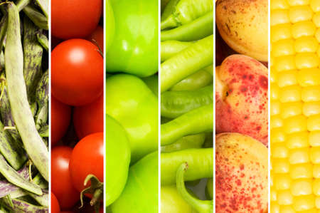 Collage of many different fruits and vegetables Stock Photo - 8745714