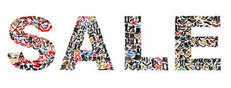 zapato: VENTA de palabra hecha de cientos de zapatos de mujer
