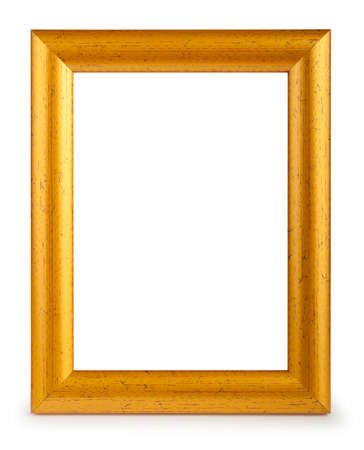 antique frame: Picture frame isolated on the white background Stock Photo