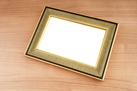 Picture frames on the polished wooden background Stock Photo - 8881994