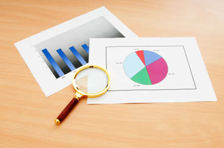 Business concept with charts photo