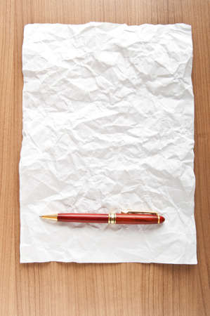 Paper background with pen  Stock Photo - 8882098