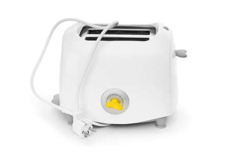 Bread toaster isolated on the white background photo