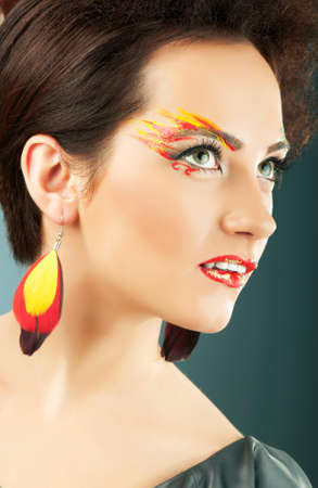 Attractive woman with the stylish make up Stock Photo - 8965001