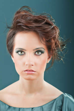 Fashion beauty concept with attractive woman photo