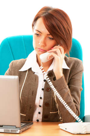 Young business woman working in the office Stock Photo - 8965020