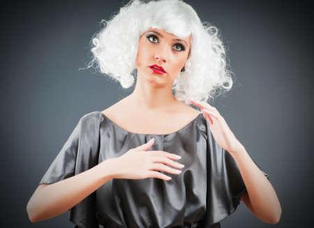 Blonde puppet in studio shooting Stock Photo - 8965913