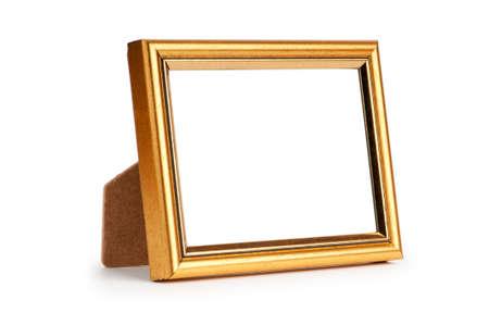 galeria fotografica: Marco aislado sobre fondo blanco