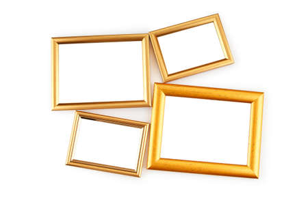 Picture frame isolated on the white background Stock Photo