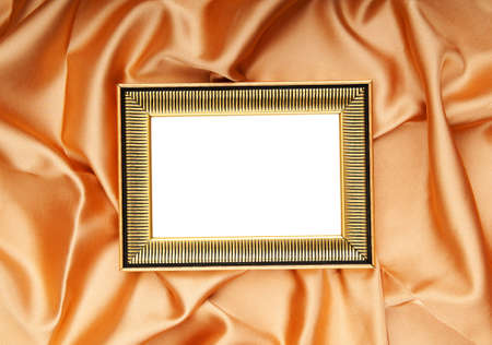 Picture frames on the color satin background photo