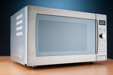 microwave oven: Microwave oven on the table