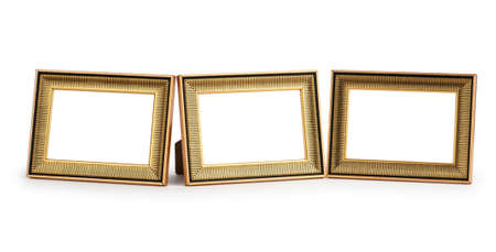 frame  box: Picture frame isolated on the white background Stock Photo