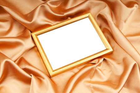 Picture frames on the color satin background Stock Photo - 9007375