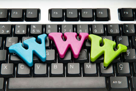 WWW letters on the keyboard photo