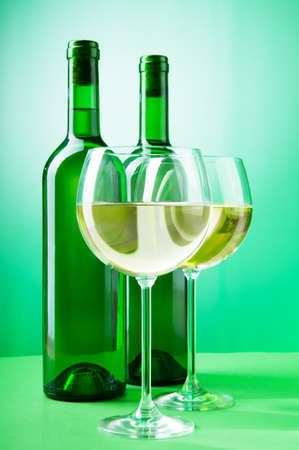 Wine concept with gradient background  Stock Photo - 9010541