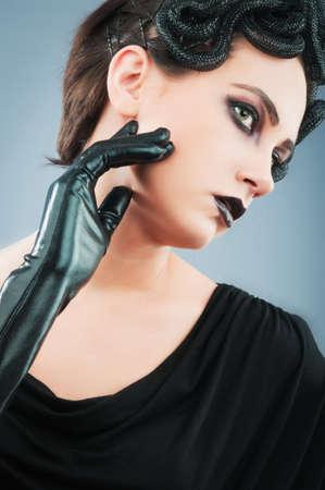 Woman depicting the concept og Evil (Medusa Gorgon) photo