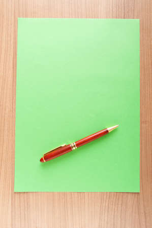 Paper background with pen Stock Photo - 9224264