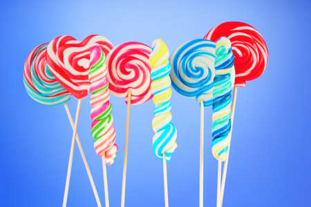 Colorful lollipop against the background photo