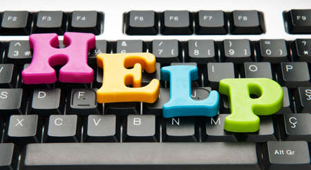 HELP concept with letters on keyboard Stock Photo - 9224795