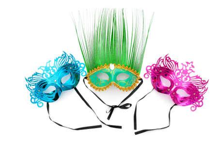 theatre mask: Ornate masks isolated on the white background Stock Photo