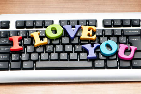 I love you words on the keyboard photo