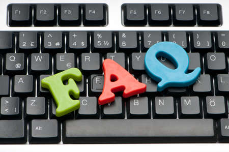 frequently asked question: FAQ concept with letters on keyboard
