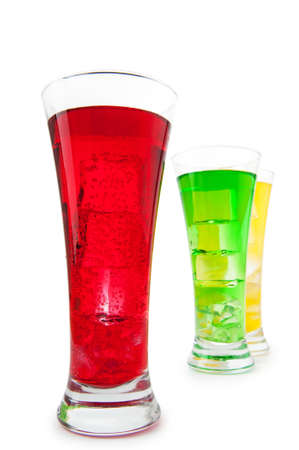 Colourful cocktail in glasses Stock Photo - 9374621