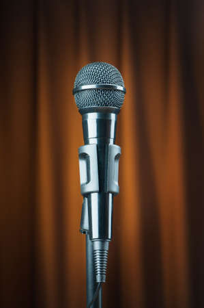 Audio microphone against the background Stock Photo - 9374779