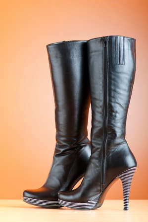 jackboot: Fashion concept with woman top boots