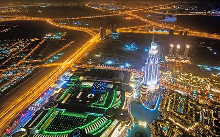 Panorama of down town Dubai city photo