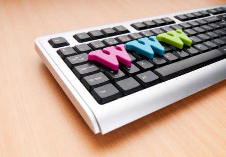 WWW letters on the keyboard photo