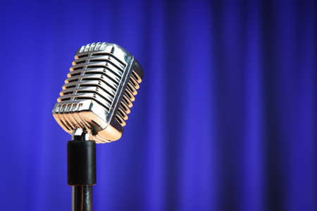 Audio microphone against the background Stock Photo - 9487992