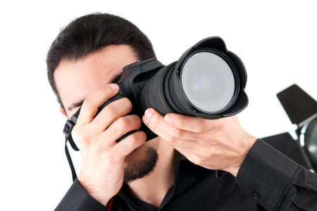 photographers: Photographer with the digital camera