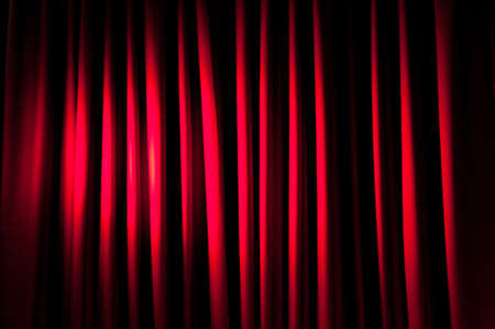 Brightly lit curtains for your background Stock Photo - 9542249